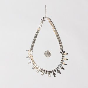Black and white costume necklace